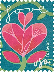 United State Postage Stamp -  Garden of Love 2011 Issue